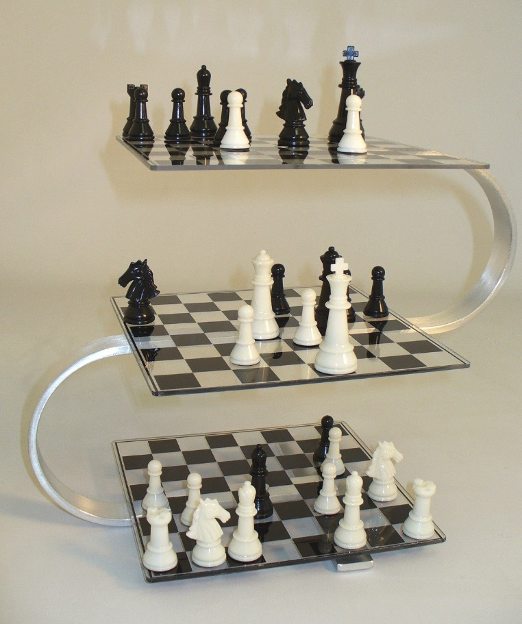 3d chessboard chess from a whole new angle dudeliving - Multi level chess board ...
