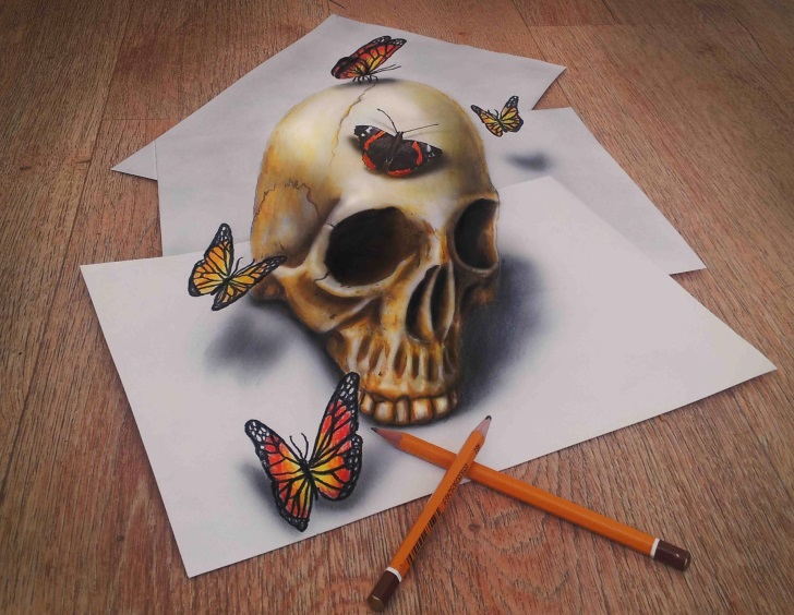 3D Illusions Drawings Pencil