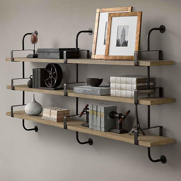 Shelf ideas for the modern man cave dudeliving - Etagere murale vintage ...