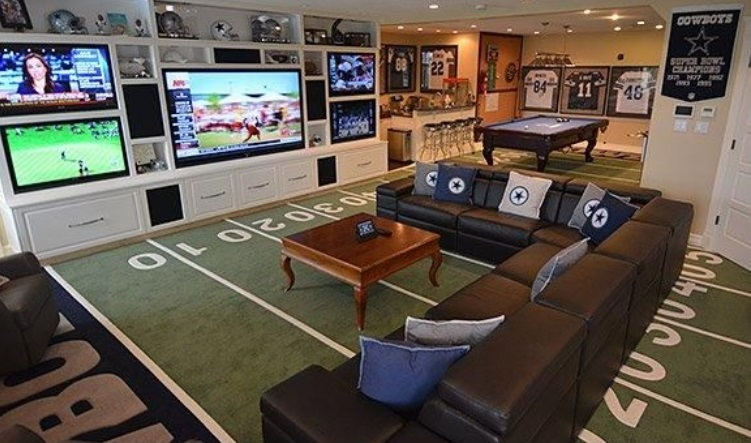 Nfl Man Cave Ideas : Beginner s guide to setting up a man cave at home