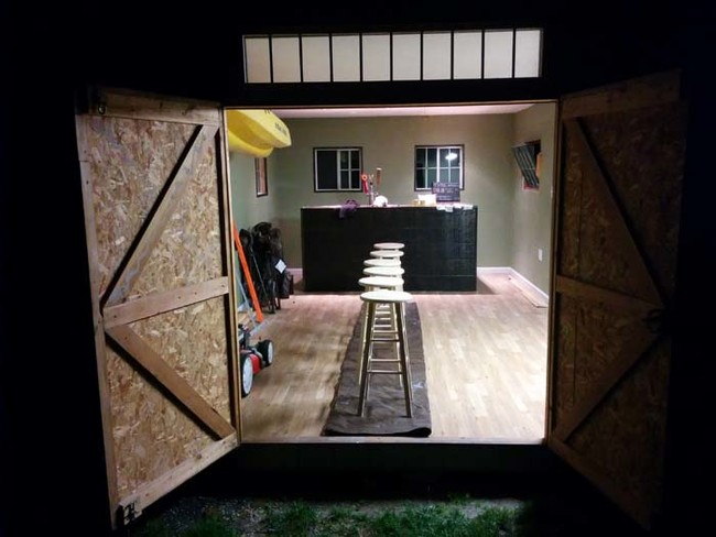 Barn Meets Bar And Becomes The Ultimate Man Cave Backyard